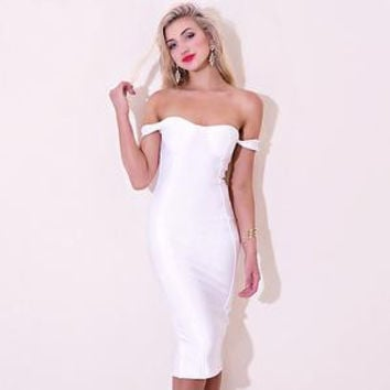 ☀ Make them stare ☀Off shoulder bodycon sexy women mini evening party bandage Dress