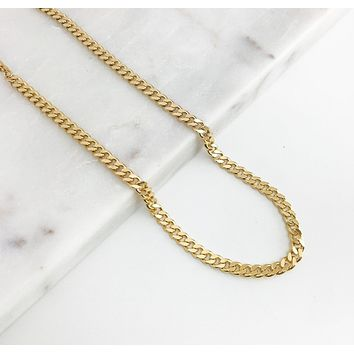Thin Cuban Link Chain Necklace