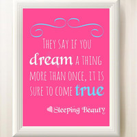 Nursery Sleeping Beauty Quote 8x10 INSTANT DOWNLOAD Printable High Quality