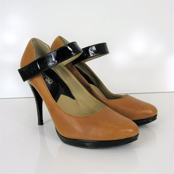 017426150996 Michael - Michael Kors Two Tone Mary Jane Pumps 9
