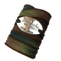 Not all Who Wander Silk Wrap Bracelet
