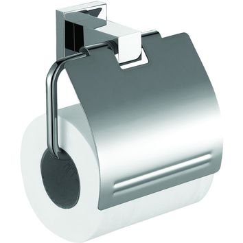 ME Cubo Toilet Paper Holder/ Roll Tissue Holder W/ Lid Cover Polished Chrome