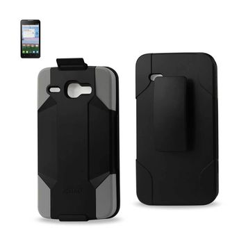 New Hybrid Holster Combo Case In Gray Black For Alcatel One Touch Sonic Lte