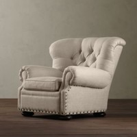 Churchill Upholstered Reading Chair | Chairs | Restoration Hardware