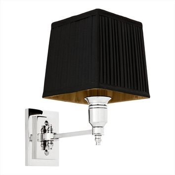 Silver and Black Wall Lamp | Eichholtz Lexington