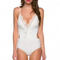 Sugar Cutout Bodysuit - Ivory
