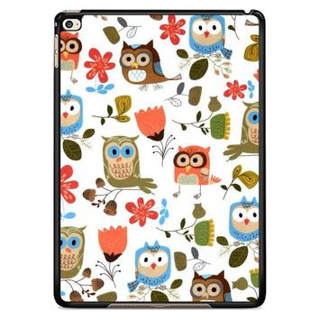 Cute Owl Pattern Y1283 iPad Air 2  Case