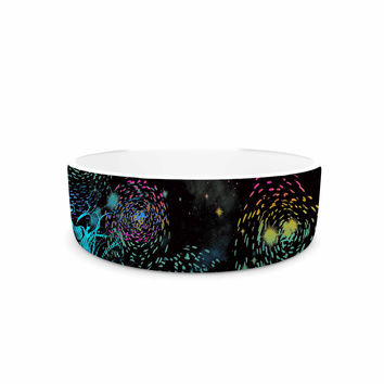 "Federic Levy-Hadida ""Starry City Lights"" Black Rainbow Pet Bowl"