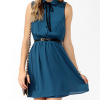 Flared Shirtdress w/ Belt | FOREVER21 - 2011190391