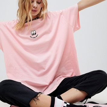 Vans X Lazy Oaf Short Sleeve T-Shirt at asos.com