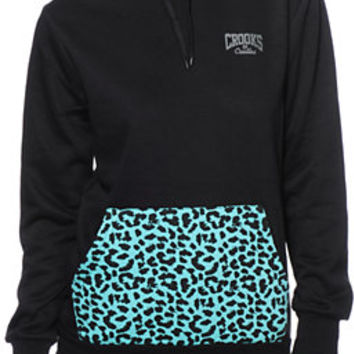 Crooks and Castles Leopard Print Pocket Black Pullover Hoodie at Zumiez : PDP