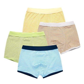 2Pcs/Lot Children's Teenager Underwear Colorful Boys Shorts Panties Soft Organic Cotton Baby Boy Stripes Kids Underwear 2-16y