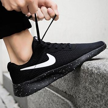 Nike TANJUN Run Ultra Popular Women Men Breathable Sports Shoes Sneakers Black