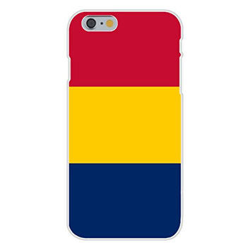 Apple iPhone 6 Custom Case White Plastic Snap On - Chad - World Country National Flags