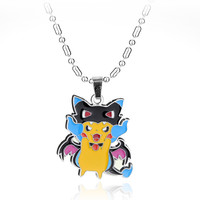 Anime Jewelry Pokemon GO Pikachu Metal Figures Pendants Necklace For Girl Christmas Gifts
