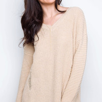 Cozy On Up Oversized Sweater - Taupe