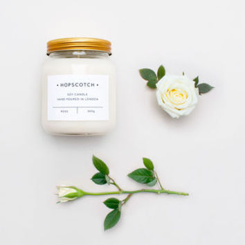 rose scented jar soy candle by hopscotch | notonthehighstreet.com