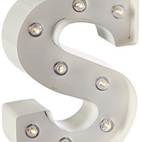 Darice Metal Letter S Marquee Light Up, White
