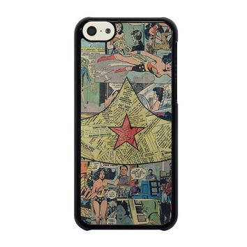 wonder woman collage iphone 5c case cover  number 1