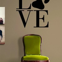 Love Dog Paw Print Quote Decal Sticker Wall Vinyl Art Animal Cute by Boop Decals