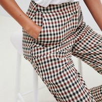 ASOS DESIGN Tailored heritage check slim trousers at asos.com