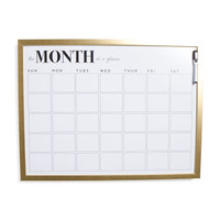 18x24 Monthly Dry Erase Board - Glam - T.J.Maxx