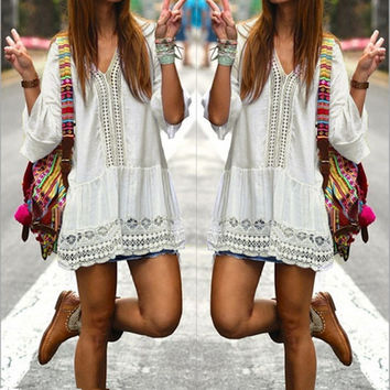 Hippie Boho Short Beach Dress🌴