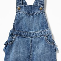 Denim Ruffled-Back Skirtall for Baby | Old Navy