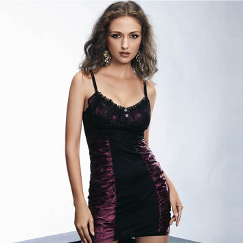 Ruffle Sexy Club Spaghetti Strap Dress [4920222660]