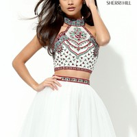Sherri Hill 50645 Two Piece Embroidered Dress | RissyRoos.com