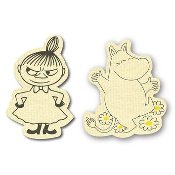 Moomin and Little My dishcloth set
