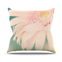 "Robin Dickinson ""Wonderful"" Pink Green Outdoor Throw Pillow"