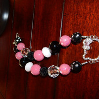 Hello Kitty Chunky Bubblegum beaded necklace