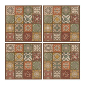 Set Of 4 Printed Metal Wall Décor Panels