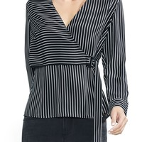 Vince Camuto Legacy Stripe Wrap Top | Nordstrom