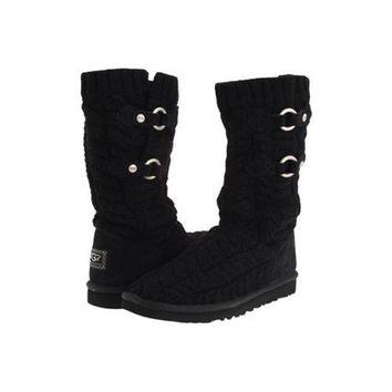 Gotopfashion Ugg Boots Black Friday Deals Knit Tularosa Route Cable 3177 Black For Women 96 86