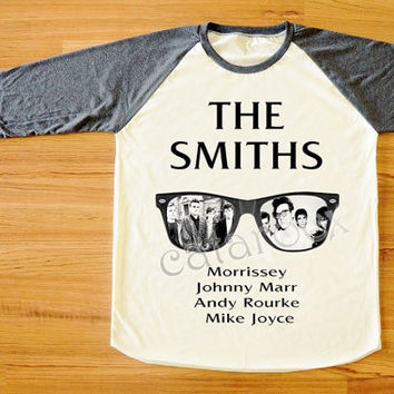 The Smiths Morrissey UK 80s Alternative Pop Rock Shirt Long Sleeve Shirt Women T-Shirt Men T-Shirt Unisex T-Shirt Baseball Tee Shirt S,M,L