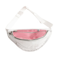 Pastel Pink Glitter Fanny Pack