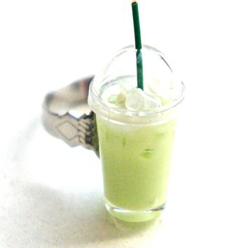 Iced Matcha Green Tea Ring