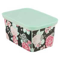 Xhilaration Amsterdam X-Small Storage Totes - Set of 3 - Floral Stud Pink