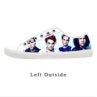 Custom My Chemical Romance Printed Women's Canvas Shoes Fashion Shoes for Women