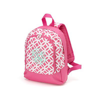 Monogrammed Preschool Backpack Pink Sadie Geometric School Bookbag Toddler