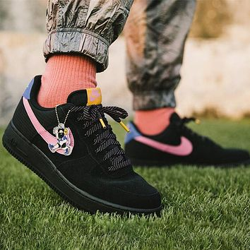 Nike Air Force 1 Fashion Women Men Casual Sport Running Shoes Sneakers Black&Pink