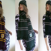 Harry Potter Gryffindor Slytherin Hufflepuff Ravenclaw House Cosplay Scarf Collections