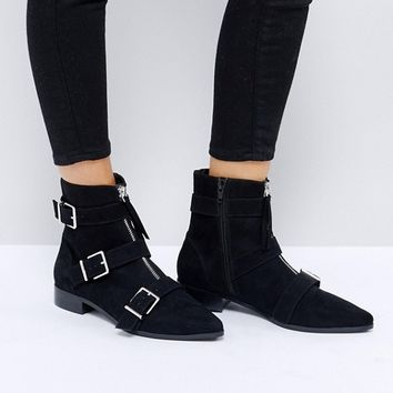 ASOS AYLA Buckle Ankle Boots at asos.com