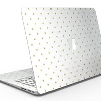 White and Gold Foil Polka v14 - MacBook Air Skin Kit