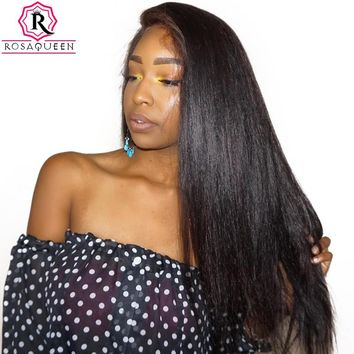 Straight Pre Plucked With Baby Hair Brazilian Lace Wig Remy