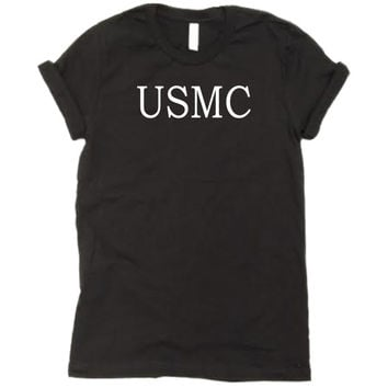 USMC Shirt. usmc tee. marine corps marathon. military t shirt. marine girlfriend. marine sister. marine mom. marine wife. tank top.