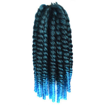12inch  Wig Hair Extension African Braid    1BTBLUE3#