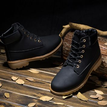 Men Dr. Martens Winter Training High-top Casual Outdoors Plus Size Men's Shoes = 9959413574